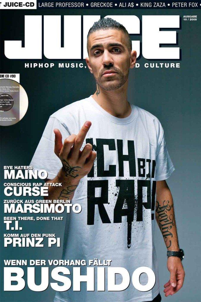 Der deutsche Rapper Bushido in einem Titelbild für das Magazin Juice
