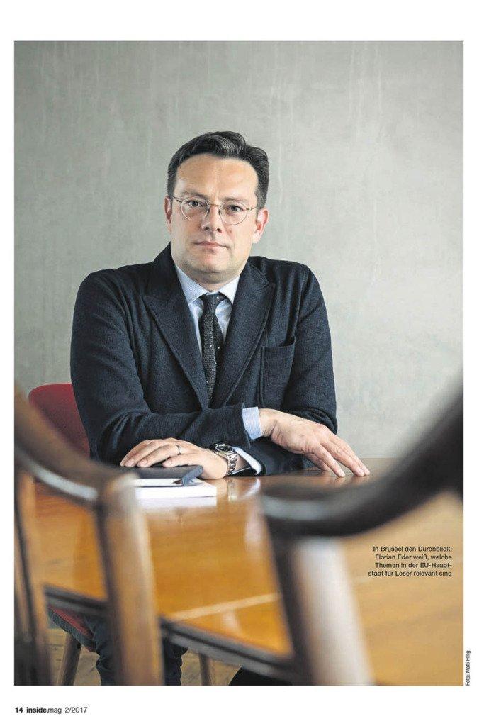 Matti Hillig hat Florian Eder, den Chefredakteur von Politico für das Inside.Mag von Axel Springer porträtiert